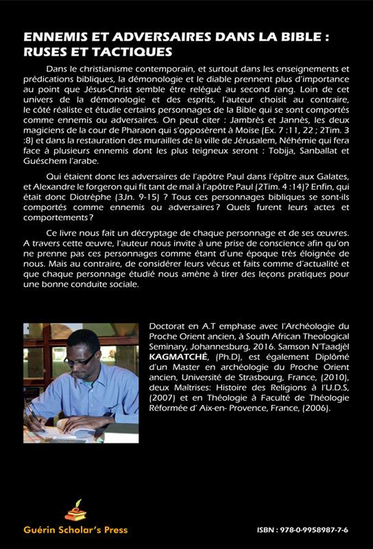 Ennemis-adversaires-Bible - Dr. Samson N'Taadjèl KAGMATCHÉ